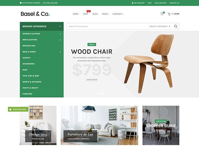 Basel - 40+ NICE WordPress Furniture & Interior Ecommerce Themes [year]