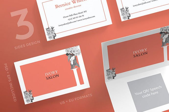 Beauty-Salon - 53+ TOP PSD Business Card Designs [year]