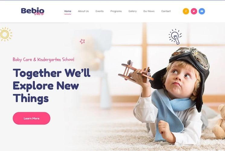 Bebio - 33+ TOP WordPress Kindergarten Themes [year]