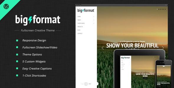 BigFormat - 36+ GREAT Videographers WordPress Themes [year]