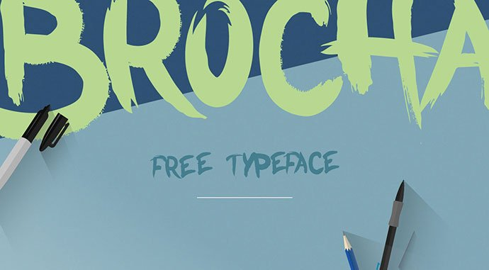 Brocha - 48+ GREAT Free Fonts Collection [year]