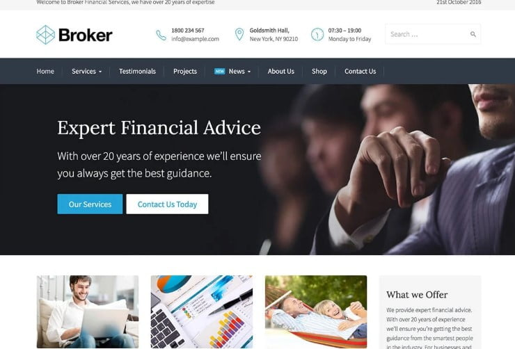 Broker - 36+ BEST WordPress Insurance Themes [year]