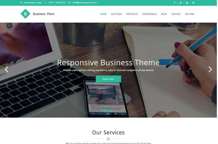 Business-Point - 39+ BEST FREE WordPress Portfolio Themes [year]