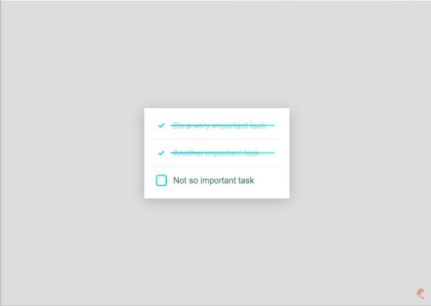 CSS-only-Todo-List - 33+ TOP FREE Checkbox Designs & Animations IDEA [year]