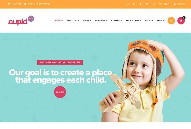 CUPID - 33+ TOP WordPress Kindergarten Themes [year]