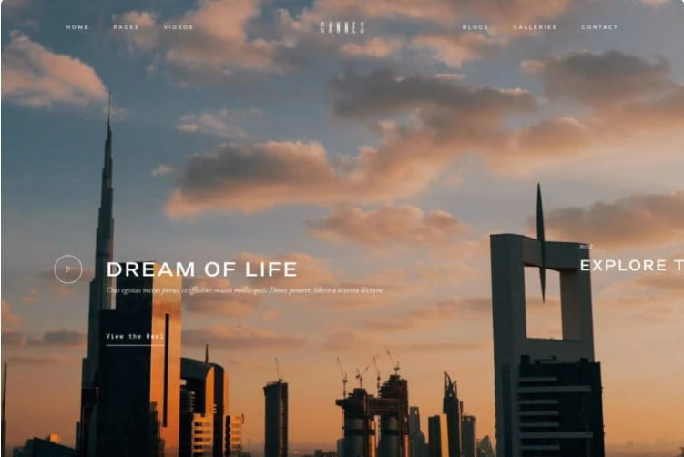 Cannes - 36+ GREAT Videographers WordPress Themes [year]
