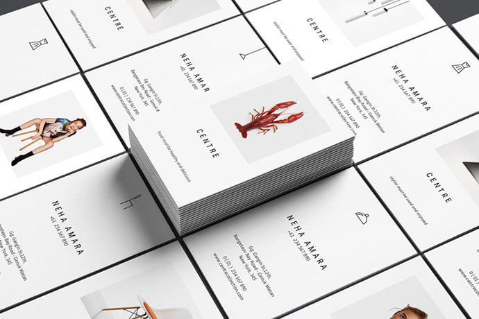 Centre - 53+ TOP PSD Business Card Designs [year]
