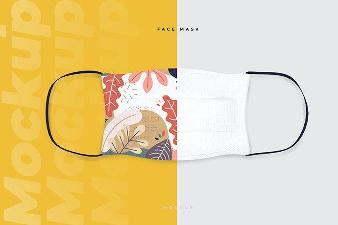 Cotton-Face-Mask - 33+ NICE Face Mockup PSD Templates [year]