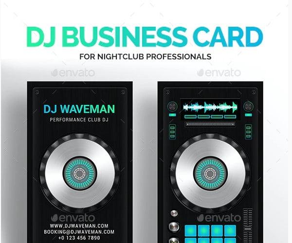 DJ-Business-Card - 53+ TOP PSD Business Card Designs [year]