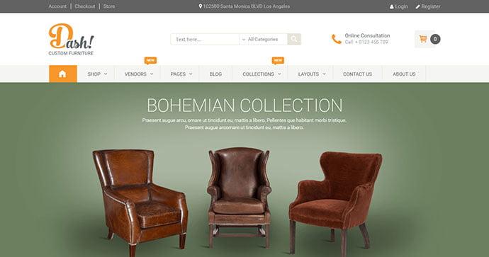 Dash - 40+ NICE WordPress Furniture & Interior Ecommerce Themes [year]