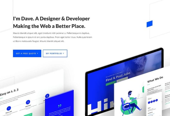 Divi - 37+ GREAT Freelancers WordPress Themes [year]