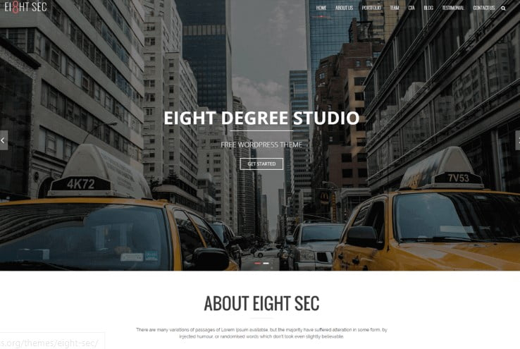 Eight-Sec - 39+ BEST FREE WordPress Portfolio Themes [year]