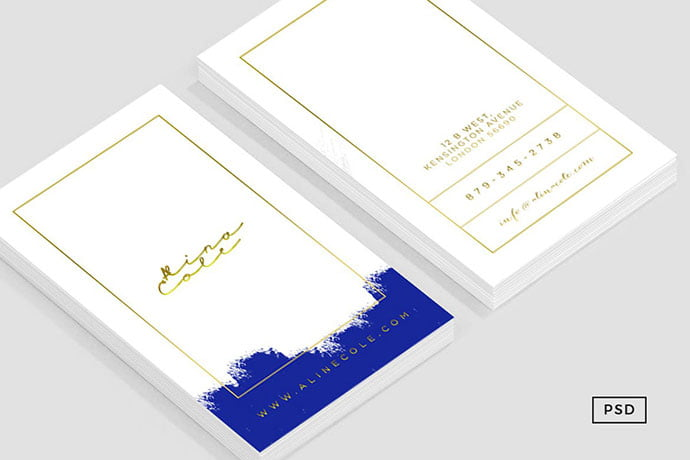 Elegant-Painted-Business-Card - 53+ TOP PSD Business Card Designs [year]