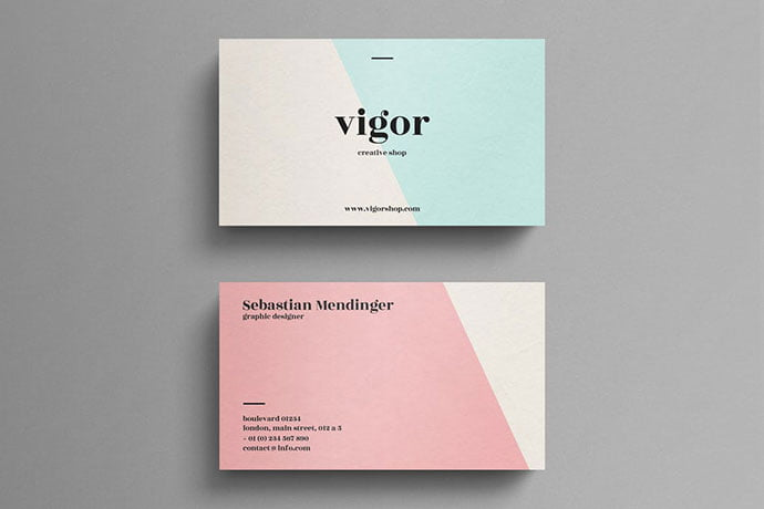 Elegant-pastel - 53+ TOP PSD Business Card Designs [year]