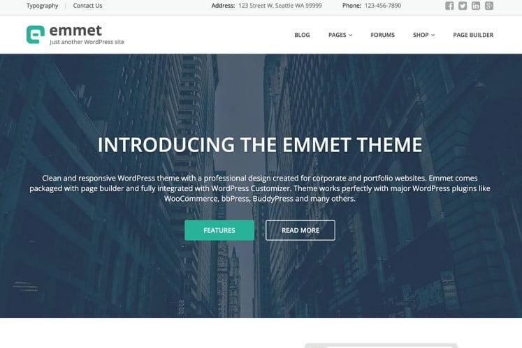 Emmet-Lite - 39+ BEST FREE WordPress Portfolio Themes [year]