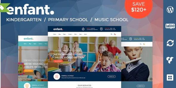 Enfan - 33+ TOP WordPress Kindergarten Themes [year]