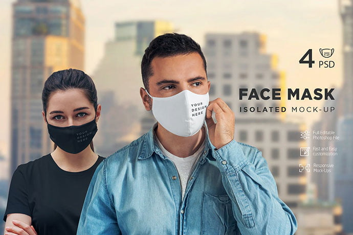 Face-Mask-Isolated-Mock - 33+ NICE Face Mockup PSD Templates [year]