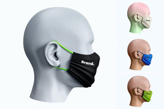 Face-Mask-Mockup-Side-View - 33+ NICE Face Mockup PSD Templates [year]