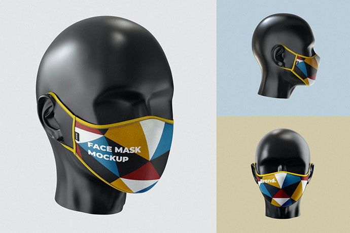 Face-Mask-Mockup-Template - 33+ NICE Face Mockup PSD Templates [year]