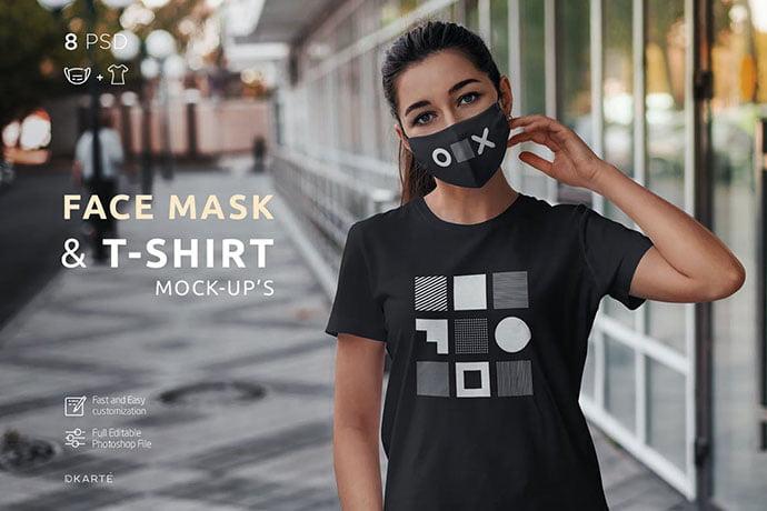 Face-Mask-T-Shirt - 33+ NICE Face Mockup PSD Templates [year]