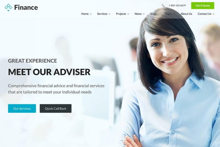 Finance - 36+ BEST WordPress Insurance Themes [year]