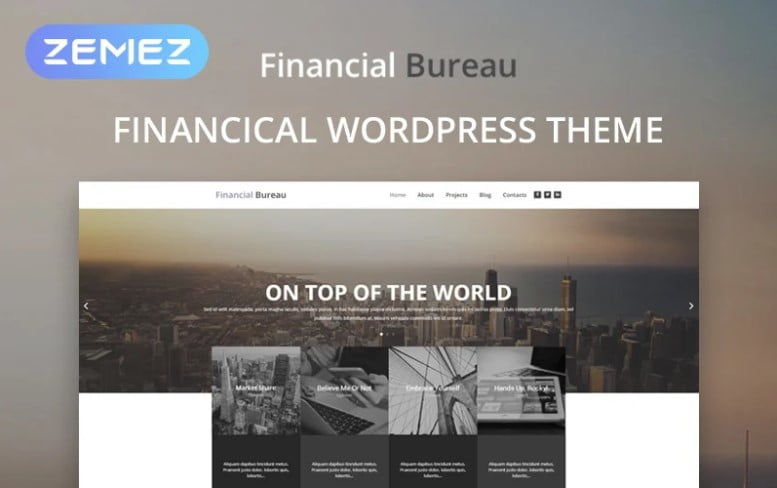 Financial-Bureau - 36+ BEST WordPress Insurance Themes [year]