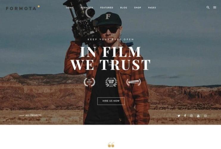 Formota - 36+ GREAT Videographers WordPress Themes [year]