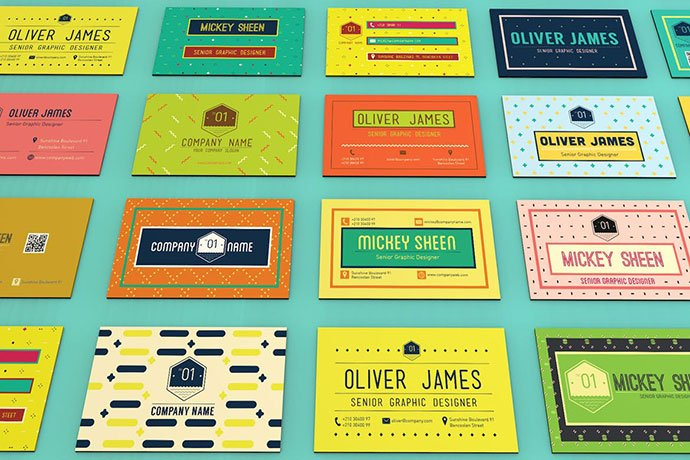 Fun-Pattern - 53+ TOP PSD Business Card Designs [year]