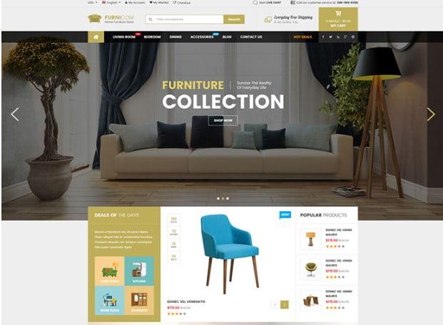 Furnicom - 40+ NICE WordPress Furniture & Interior Ecommerce Themes [year]
