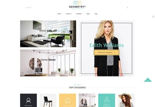 Geometry - 40+ NICE WordPress Furniture & Interior Ecommerce Themes [year]