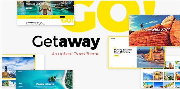Getaway - 33+ BEST FREE WordPress Travel Themes [year]