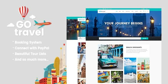 GoTravel - 33+ BEST FREE WordPress Travel Themes [year]