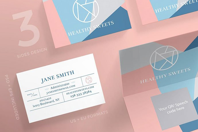 Handcrafted-Sweets - 53+ TOP PSD Business Card Designs [year]