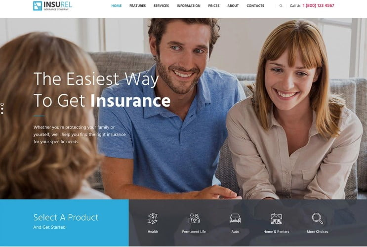 InsuRel - 36+ BEST WordPress Insurance Themes [year]