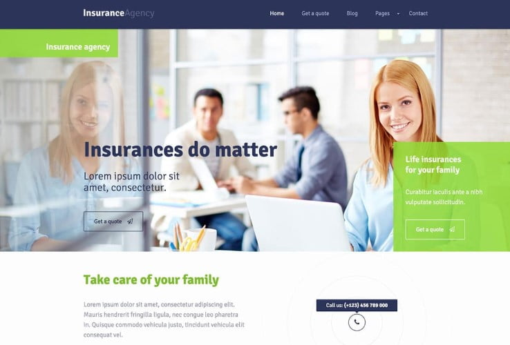 Insurance-1 - 36+ BEST WordPress Insurance Themes [year]
