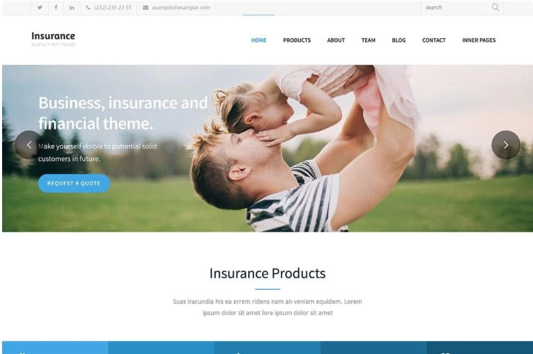Insurance-Agency - 36+ BEST WordPress Insurance Themes [year]