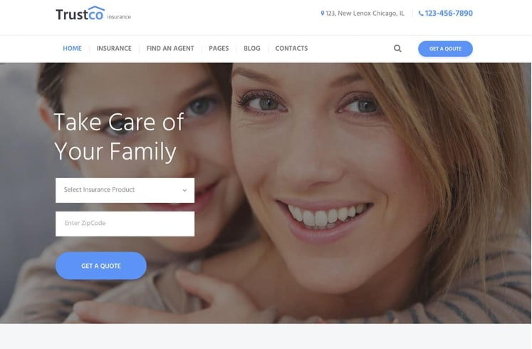 Insurance - 36+ BEST WordPress Insurance Themes [year]