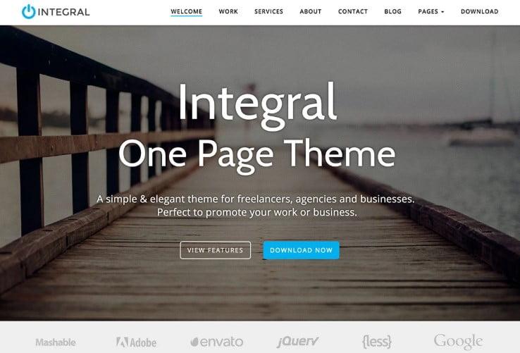 Integral - 39+ BEST FREE WordPress Portfolio Themes [year]