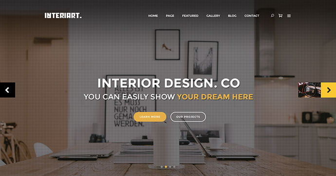 InteriArt - 40+ NICE WordPress Furniture & Interior Ecommerce Themes [year]