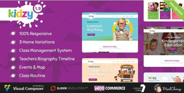 KIDZY - 33+ TOP WordPress Kindergarten Themes [year]