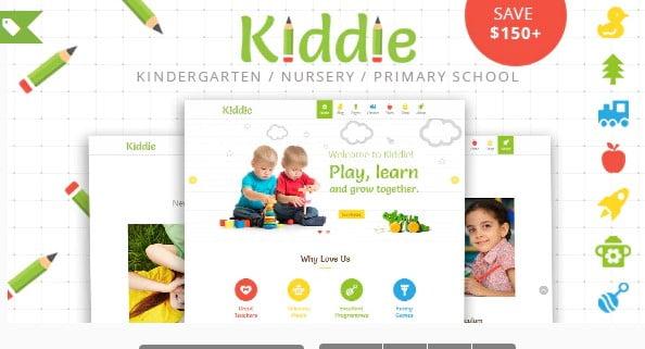 Kiddie - 33+ TOP WordPress Kindergarten Themes [year]