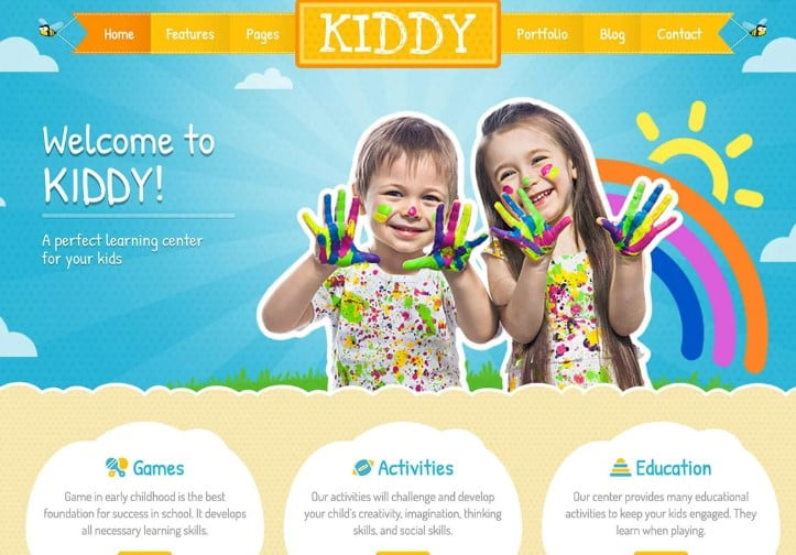 Kiddy - 33+ TOP WordPress Kindergarten Themes [year]