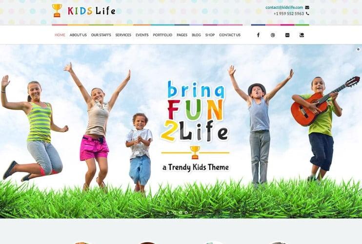 Kids-Life - 33+ TOP WordPress Kindergarten Themes [year]