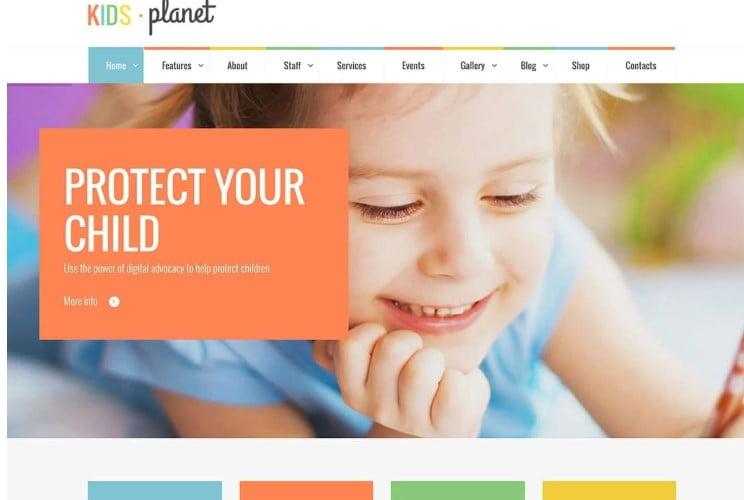 Kids-Planet - 33+ TOP WordPress Kindergarten Themes [year]