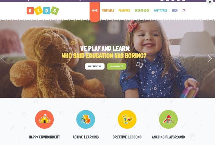 Kids - 33+ TOP WordPress Kindergarten Themes [year]