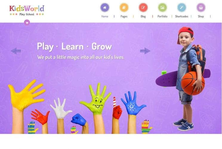 KidsWorld - 33+ TOP WordPress Kindergarten Themes [year]