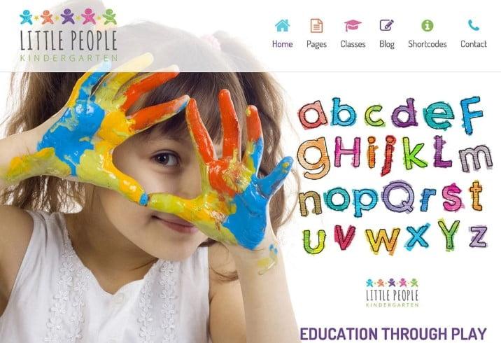 Little-People - 33+ TOP WordPress Kindergarten Themes [year]