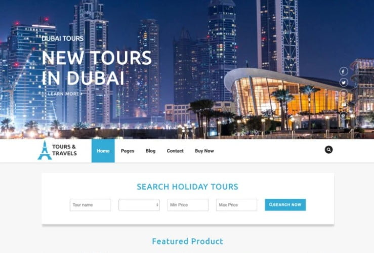 Luxury-Travel - 33+ BEST FREE WordPress Travel Themes [year]