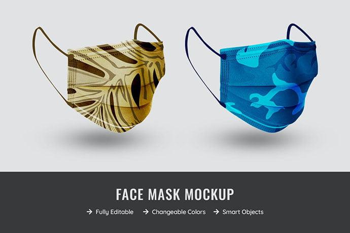 Mask-Mockup - 33+ NICE Face Mockup PSD Templates [year]