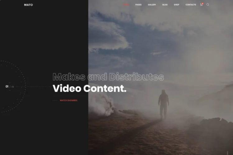 Mato - 36+ GREAT Videographers WordPress Themes [year]